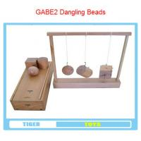Wholesale pre school professional froebel gifts wooden educational toys froebel GABE2 Dangling beads from china suppliers