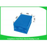Wholesale Collapsible Storage Crate With Attached Lids , Portable Plastic Folding Storage Boxes from china suppliers