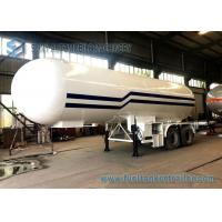 Wholesale 21T LPG Tank Trailer BPW 2 Axles 49600L LPG Gas Tanker Truck 1mm Rust Thickness from china suppliers