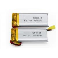 Wholesale High Safety Small Lithium Polymer Battery Pack 3.7V 750mAh 852045 For Speaker from china suppliers