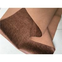 Wholesale 140cm Width Light Brown Textured Leather Fabric With 35 Meters Length Each Roll from china suppliers