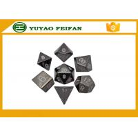 Wholesale Custom Black Polyhedral RPG 7 Pcs 6 Sided Dice Sets 16-22mm from china suppliers