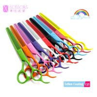 Quality Colorful Teflon coating SUS420J2 Stainless Steel Thinning Scissors E2T for sale