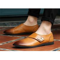 China Single Buckle Monk Shoes , Men'S Genuine Leather Dress Shoes No Lace on sale