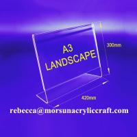 Wholesale Professional Customized Design A3 Acrylic Display For Top Menu Holder from china suppliers