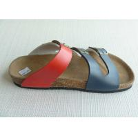 Wholesale High quality Peep Toe Men Cork Sandals , Summer Casual OEM from china suppliers