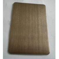Wholesale 304 Chocolate Hairline Finish Ti-coating Colored Stainless Steel Sheet For Elevator Cabin from china suppliers