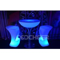 Wholesale Round Stand High Illuminated Cocktail Tables Personalized Cocktail Bar Tables from china suppliers
