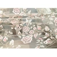 Wholesale Exquisite Multi Colored Lace Fabric with Blush Pink And Metallic Yarn Embroidered from china suppliers