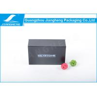 Wholesale Black Silver Hot Stamping Essential Oil Packaging Boxes Folding Storage Box from china suppliers