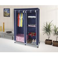 Wholesale Metal Frame Mobile Non Woven Wardrobe with Zipper and Wheels Foldable Fabric Cabinets from china suppliers