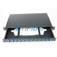 Wholesale SC 12 Port Fiber Optic Patch Panel For Cabenit With 12 Colors Fiber Pigtials from china suppliers