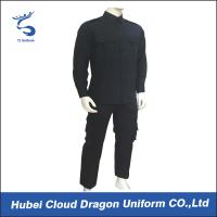 Wholesale Navy Blue TC Twill SWAT Tactical Uniform / Law Enforcement Uniform Waterproof Windproof from china suppliers