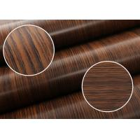 Quality Imitation Walnut Color PVC Material Self Adhesive Wallpaper With 0.45*10M Size for sale