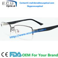 Wholesale China Wenzhou factory metal optical frames stainless steel Half-Rim eyewear italy designer Spectacles from china suppliers