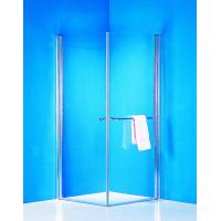 Wholesale Stainless Handle 900 × 900 Shower Enclosure Pivot Glass Shower Doors With Towel Rack from china suppliers