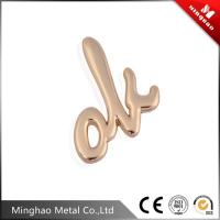 Wholesale Guangzhou custom small metal logo name plate,zinc alloy brand logo metal tag from china suppliers