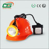 Quality Bright Industrial Lighting Fixture , Rechargeable Led Safety Miner Cap Lamp for sale