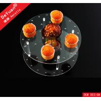Wholesale Transparent Acrylic Holder Stand / Wedding Round Acrylic Cupcake And Cake Stand from china suppliers