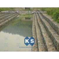 Wholesale Heavy Zinc Coated Gabion Basket Retaining Wall 8x12cm To Protect Riverbank from china suppliers