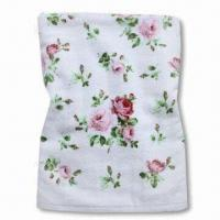Wholesale 100% Cotton Bath Towel with Beautiful Reactive Printing, Various Colors and Sizes are Available from china suppliers