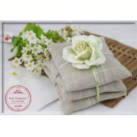 Wholesale Colorful Artificial Flower Linen Scented Pouches For Club / Bathroom 9*9cm from china suppliers