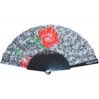 Quality Transfer Printing Fabric Hand Fan For Advertising ,  Souvenirs Varied Design for sale