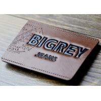 Wholesale Waterproof Leather Embossed Patches Pu Leather Labels Fashionable Design from china suppliers