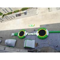 Wholesale Kids / Adults Commercial Inflatable Water Park Custom Size Green With White from china suppliers