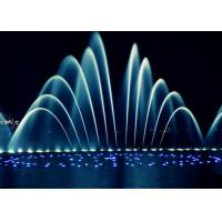Wholesale Lake Pteris Shapes Stainless Steel Water Fountain With Changeable Light from china suppliers