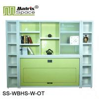 Wholesale Folding Wall Bed Horizontal Single Murphy Wall Bed For Kids , Color Green from china suppliers