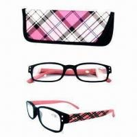 Buy cheap Fashionable reading glasses with case from wholesalers