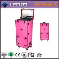 Wholesale LT-MCL0002 aluminum beauty  makeup cosmetic case makeup case with lighted mirror from china suppliers