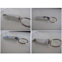 Wholesale OEM bright metal usb memory with laser logo / silk printing logo attached keyring (MY-UME25) from china suppliers