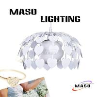 Wholesale MASO Modern White Colr Heart Shape Iron Pendant Lamp One Light Base E27 MS-I6020-1 from china suppliers
