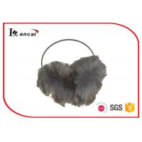 Wholesale Faux Fur Behind The Head Earmuffs Leopard Thin Iron Band For Ladies from china suppliers