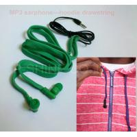 Wholesale Drawcord inbuilt MP3 headphone washable earphones for hoodie/garment from china suppliers