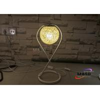 Wholesale Maso Rattan Cover Metal Material Lamp Body X Shape Art design Warm Color Temperature White Finished LED Table Lamp from china suppliers