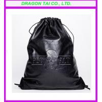 Wholesale PU leather shoe bag, pu drawstring bag, measure 33*25CM from china suppliers