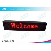 Quality Outdoor Waterproof Red Color LED Moving Sign Programmable 10mm Pixel pitch for sale