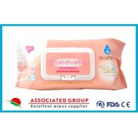 Wholesale Ultra Soft Disposable Baby Wet Wipes / Wet Tissue For Baby , 80 Sheets Per Pack from china suppliers