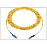 Wholesale G652D Simplex Patch Cord Customized Length Yellow Multimode Fibre Patch Leads from china suppliers