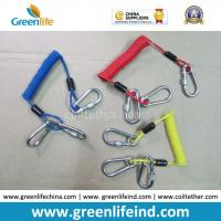 Wholesale Customized Carabiner Colorful Tool Coiled Tether Cords from china suppliers