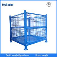 Quality Powder Coated Foldable Storage Cage 500kg - 2000kg Warehouse Wire Mesh Cage for sale