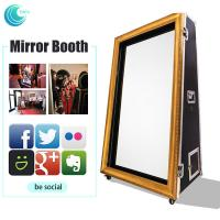 Quality Diy Rental Shopping Mall Photo Booth Mirror Selfie Station Box For Wedding And Events for sale