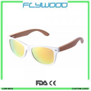 Quality 2016 OEM bamboo wood arms sunglasses 2016 cheap wholesale sunglasses China custom logo crystal sunglasses for sale