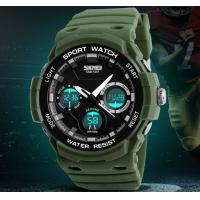 Wholesale Skmei Fashion Men Dual Time Waterproof 50m Shockproof Pu Strap Chronograph Outdoor Sport Watches 1247 from china suppliers