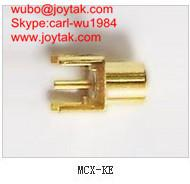 Wholesale High quality gold plated MCX jack streight PCB mount type coaxial connector MCX-KE from china suppliers