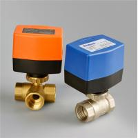 Wholesale PN20 3 Point Type Electric Ball Valve , Motorized Brass 3 Way Ball Valve 1/2'' Port Size from china suppliers