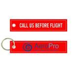 China Call Us Before Flight AeroPro Ingenieria Aeronautica Fabric Embroidery Pilot Key Chains for sale